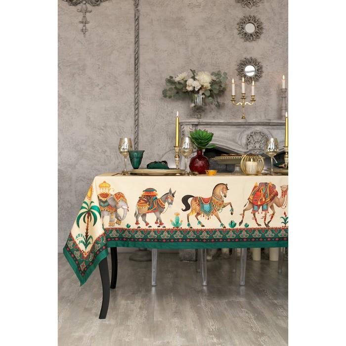 """Набор столовый """"Этель"""" Нью-Дели, скатерть 110х150 см, салф. 40х40 см-4шт, 100% хл"""