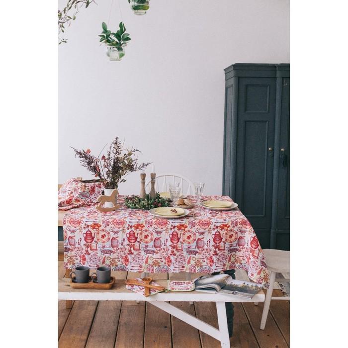 Скатерть Доляна «Чайные традиции», 70 × 70 см, 100%-ный хлопок, вафельное полотно, 162 г/м²
