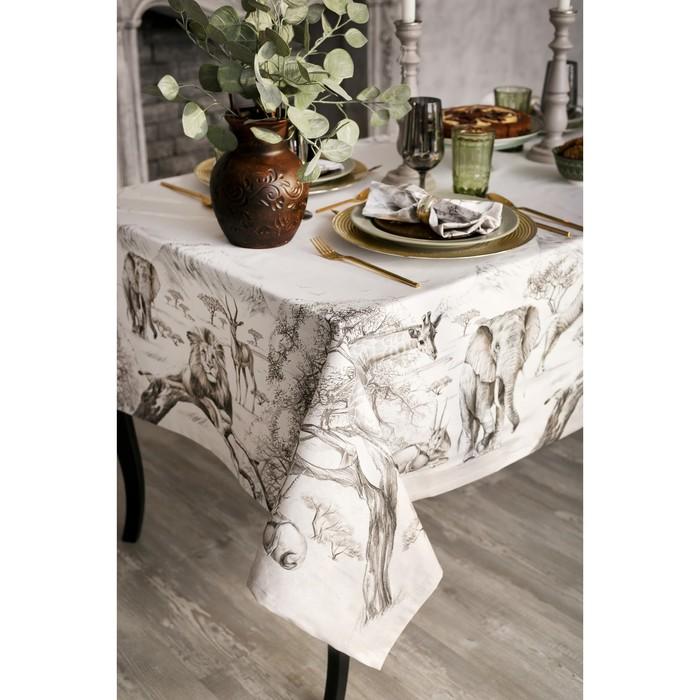 """Набор столовый """"Этель"""" Сафари, скатерть 180х150 см, салф. 40х40 см-8шт, 100% хл"""