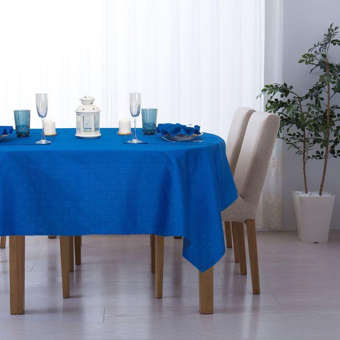 """Набор столовый """"Этель"""" Печворк цв.Синий(скат140*220,салф 40*40-8шт), 100% хл, жаккард"""