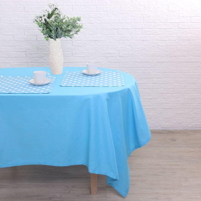 """Набор столовый """"Этель"""" Лесная голубика скатерть 150х300 см, салфетка 40х40 см 12 шт., рогожка"""