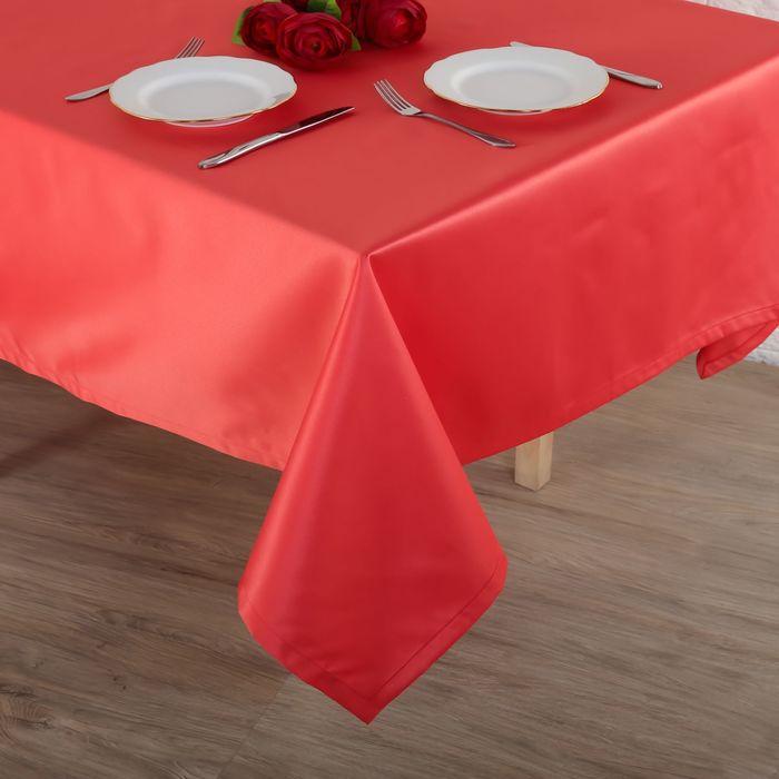 """Скатерть """"Этель"""" 150х200 см, однотонная цвет лососевый, пл. 192 г/м2, хл. с ГМО"""
