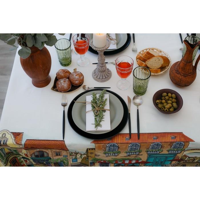 Скатерть «Этель: Италия», 180 × 150 см, хлопок 100 %, саржа, 190 г/м²