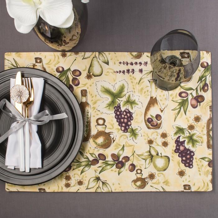 """Салфетка на стол """"Итальянская"""" 30х40 см, текстиль"""