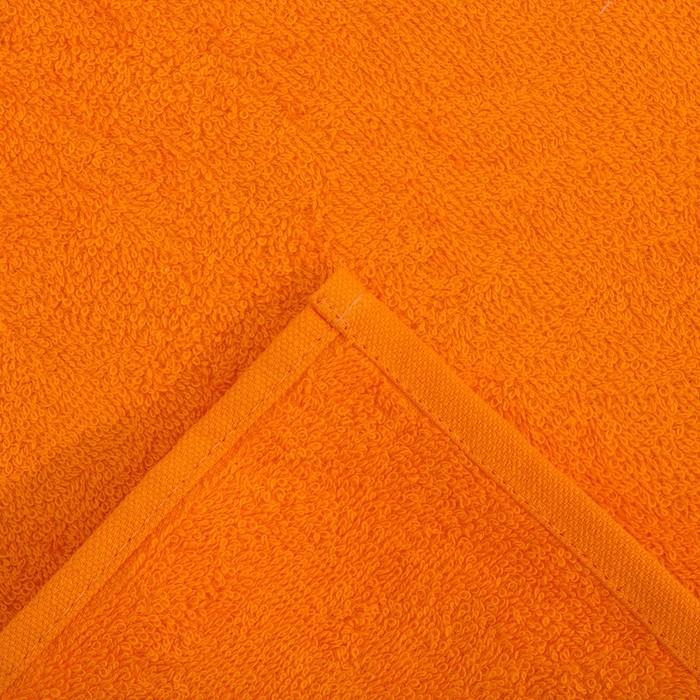Салфетка махровая, 30х30 см, цвет апельсиновый