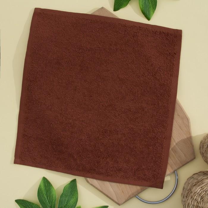 Салфетка махровая 30х30 см, шоколадный, хлопок 100%, 380 гр/м2