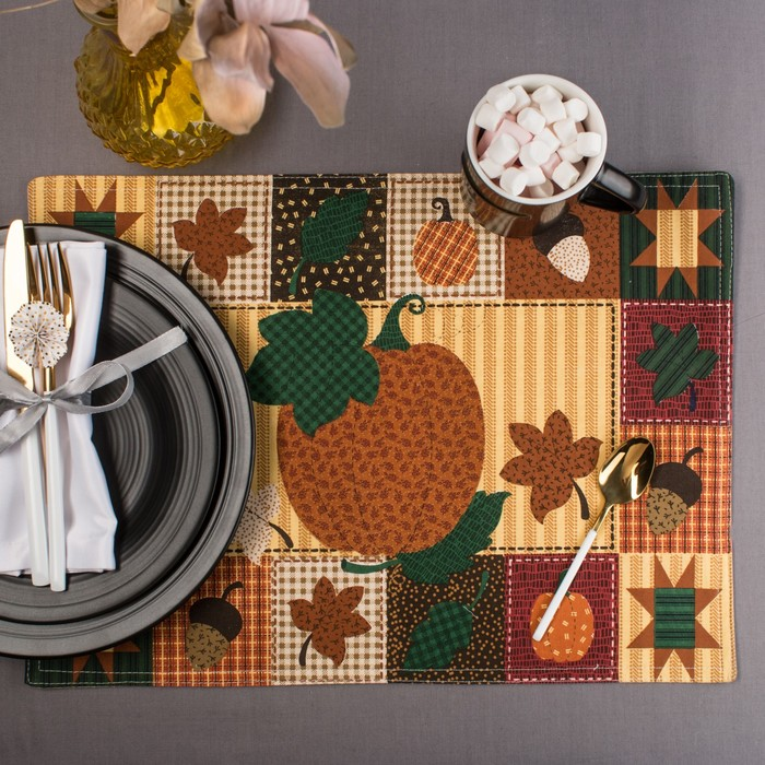 "Салфетка на стол ""Урожай"" 30х40 см, текстиль"