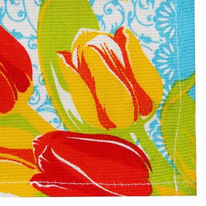 "Салфетка ""Доляна"" Тюльпаны/вид 2, 30х30 см, рогожка 162 г/м2"