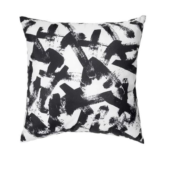 Подушка ТУРИЛЛ, размер 35х35 см, цвет белый, черный