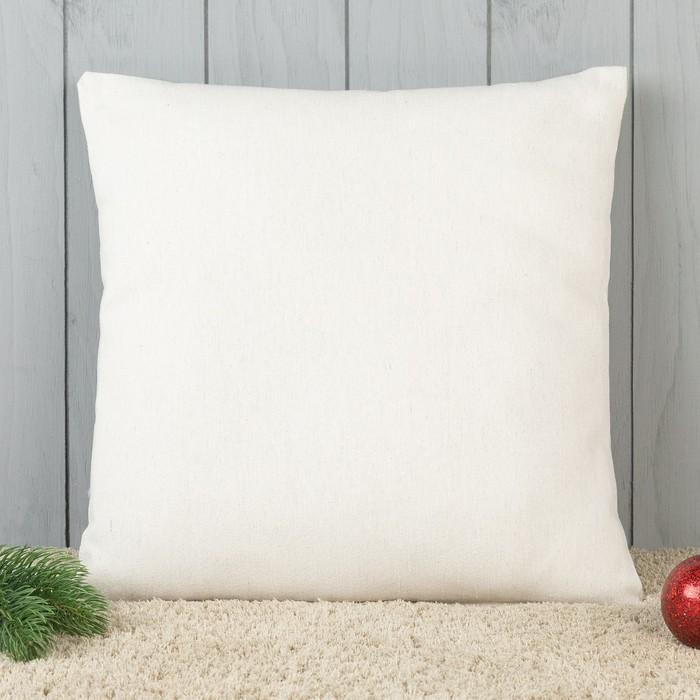 Подушка декоративная с фотопечатью Пряничная елка 40х40 см, хлопок 34%, полиэфир 66%