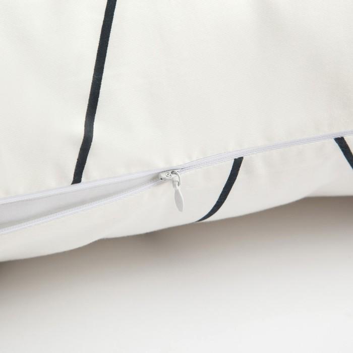 Подушка декоративная Этель «Рельеф (вид 1)» 30×80 ± 3 см цвет белый, сатин, 100% хлопок