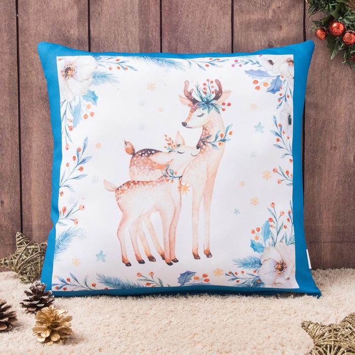Подушка-игрушка декор. Новогодние подарки 02 40х40 см, габардин, синтетич.волокно, 160 гр/м,   43778