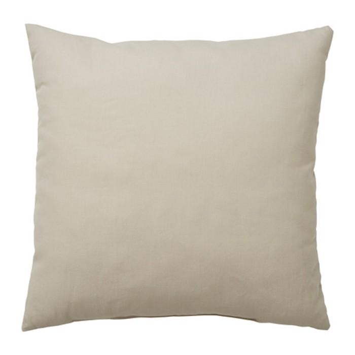 Подушка декоративная ВАЛЬБЬЁРГ, размер 50х50 см, цвет бежевый