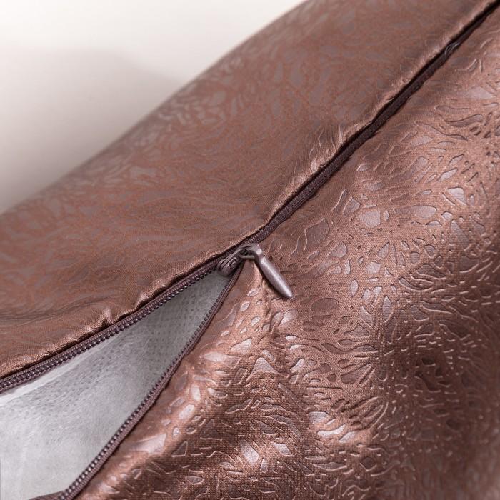 Подушка декаративная «Этель» 40×40 см, цвет шоколадный, сатен 100% п/э