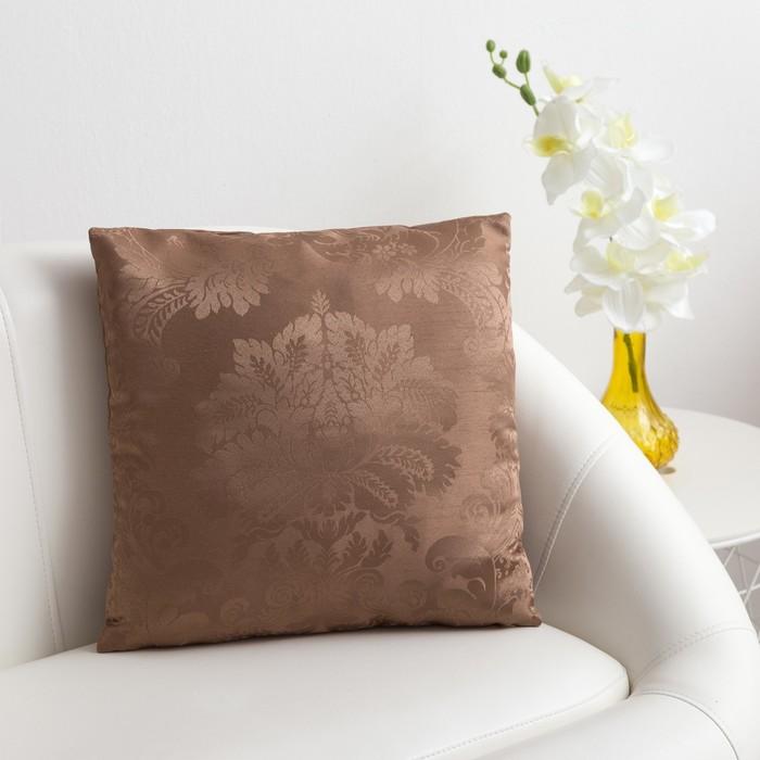 Декоративная подушка «Этель» 40×40 см Дамаск CAPPUCСINO, 100% п/э