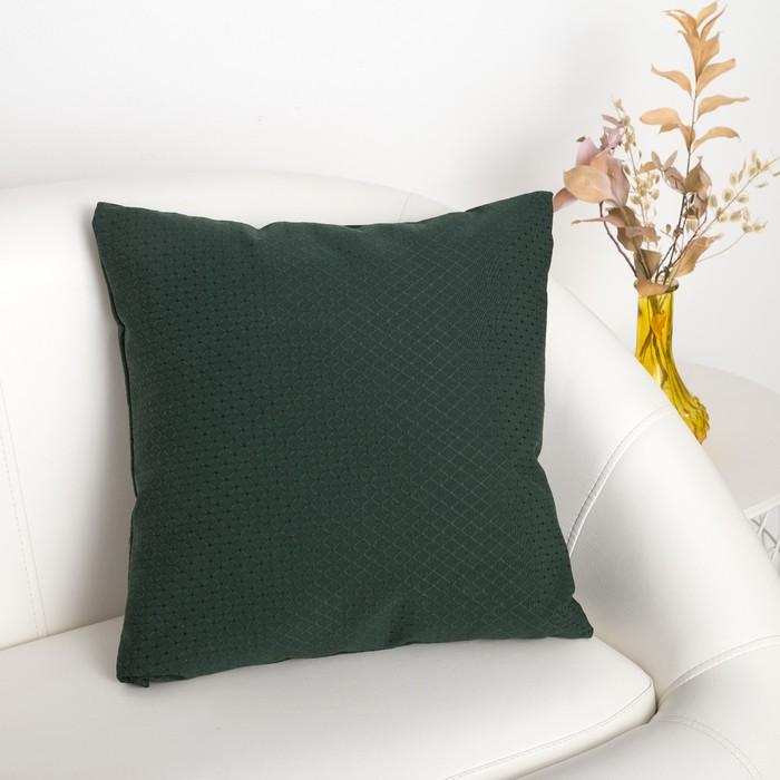 """Декоративная подушка """"Этель""""40х40 см, Английский стиль, цвет темно-зелёный"""
