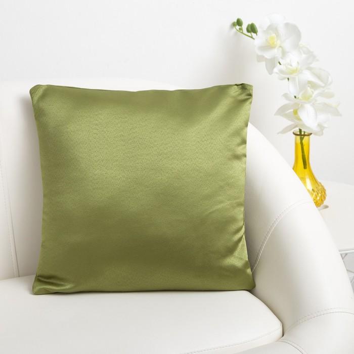 Декоративная подушка «Этель» 40×40 см Дамаск CYPRESS SOLID, 100% п/э
