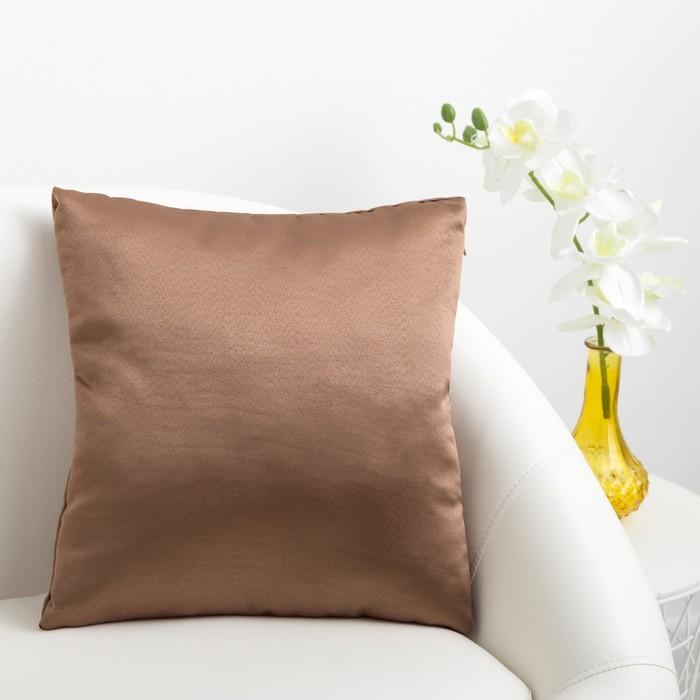 Декоративная подушка «Этель» 40×40 см Дамаск CAPPUCCINO SOLID, 100% п/э
