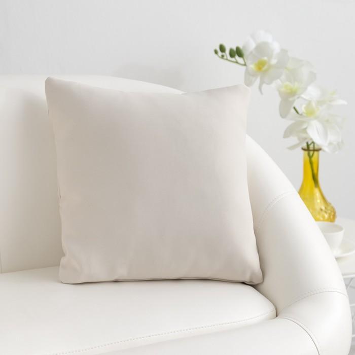 Подушка декоративная Этель цв.бежевый, 40*40 см,пл. 210 г/м2, 100 п/э
