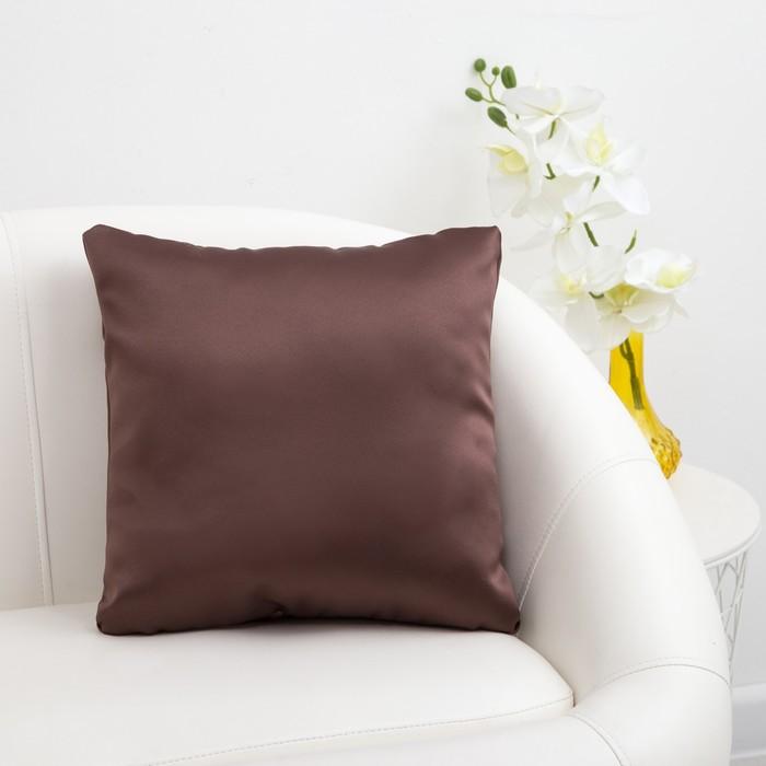 Подушка декоративная «Этель» Classic цвет Шоколад, 40×40 см, пл. 240 г/м², 100% п/э