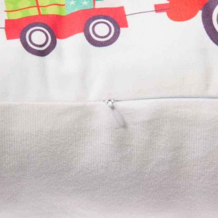 """Подушка """"Этель"""" Машина с мышками 100%п/э, велюр, 49х29 см"""