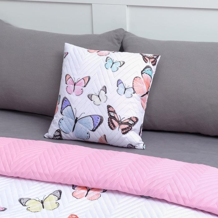 Подушка декоративная Экономь и Я «Бабочки» 40×40 см, 100% полиэстер