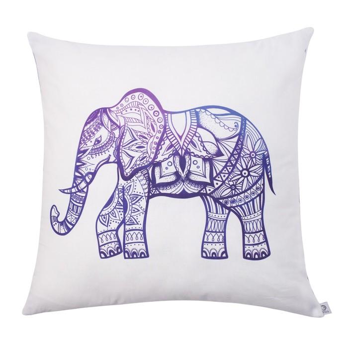 """Подушка декоративная """"Этель"""" Elephant  55х55 см, 100% хлопок, синтепух"""