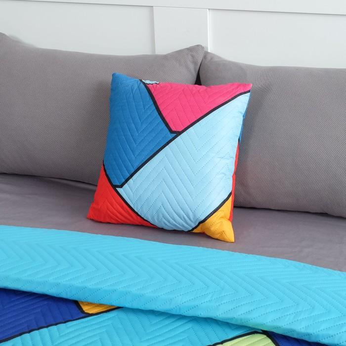 Подушка декоративная Экономь и Я «Волны» 40×40 см, 100% полиэстер