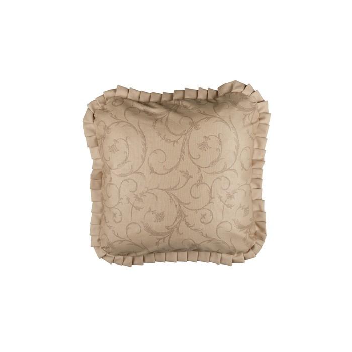 Подушка декоративная Curls, с рюшей, размер 45 × 45 см