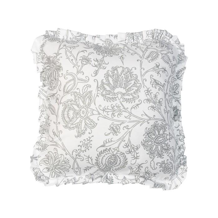 Подушка декоративная с рюшей «Белое золото», размер 45 × 45 см
