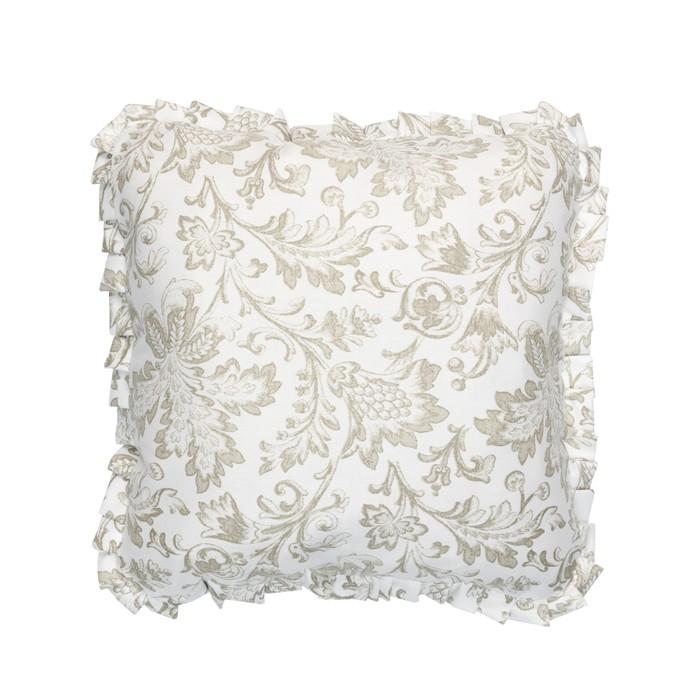 Подушка декоративная с рюшей «Золото», размер 45 × 45 см