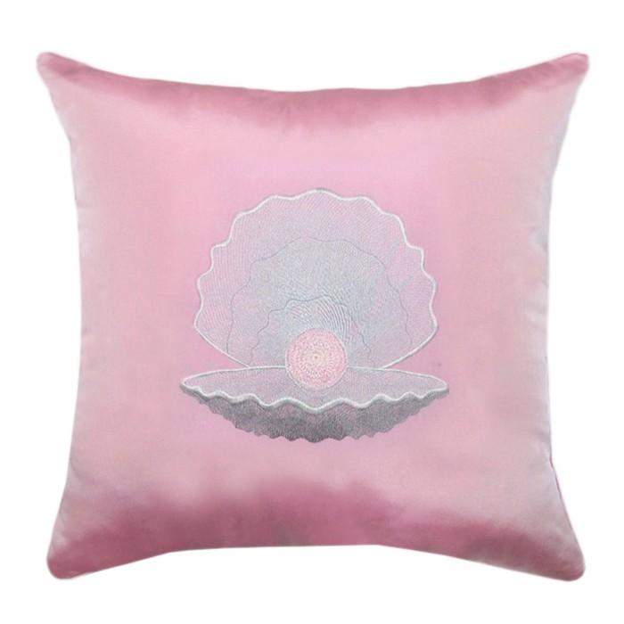 Подушка декоративная «Жемчужина», размер 45х45 см, с вышивкой