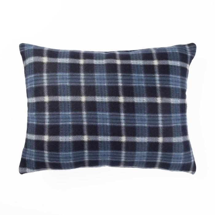 Подушка декоративная Синяя клетка (вид 3) 30х40 см, 100% п/э, синтепон 250 гр/м2