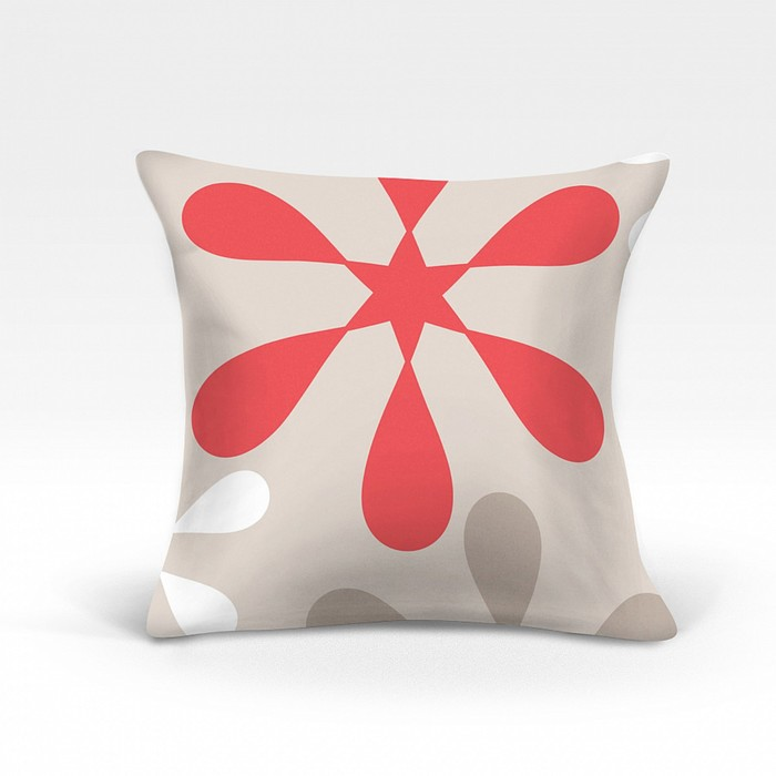 Подушка декоративная «Клякса», размер 45х45 см