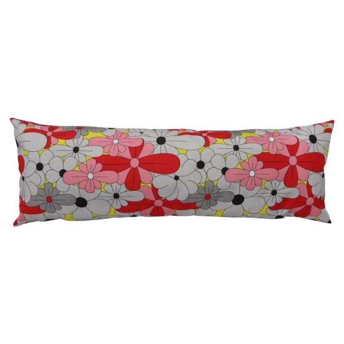 Набор подушек декоративных Bloom, размер 25х70 см-2 шт., красный