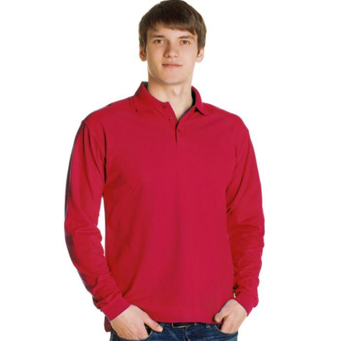 Рубашка-поло мужская StanPolo, размер 54, цвет красный 185 г/м