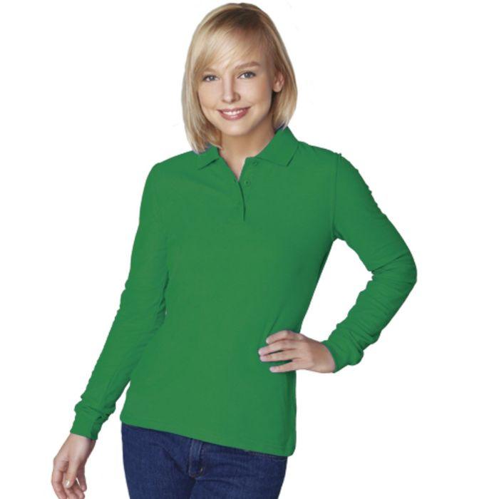 Рубашка-поло женская StanPolo, размер 50, цвет зелёный 185 г/м