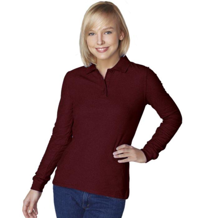 Рубашка-поло женская StanPolo, размер 48, цвет тёмно-шоколадный 185 г/м