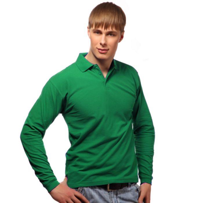 Рубашка-поло мужская StanPolo, размер 48, цвет зелёный 185 г/м