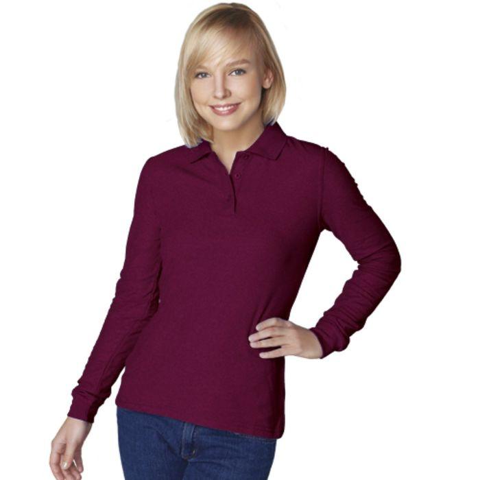 Рубашка-поло женская StanPolo, размер 52, цвет винный 185 г/м
