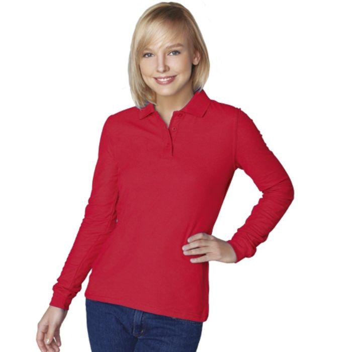 Рубашка-поло женская StanPolo, размер 44, цвет красный 185 г