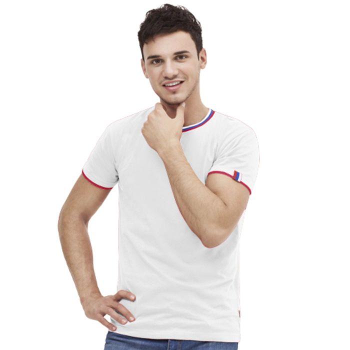 Футболка мужская EkaterinaCity, размер 48, цвет белый 180 г/м