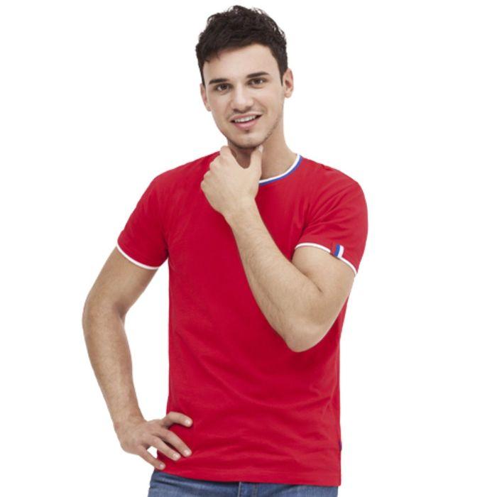 Футболка мужская EkaterinaCity, размер 54, цвет красный 180 г/м