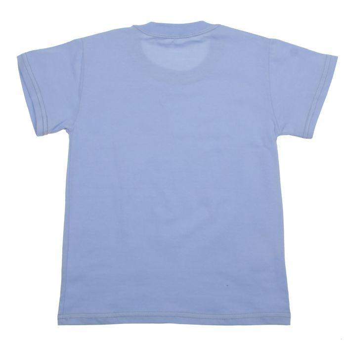 Футболка для мальчика, рост 104 см, цвет голубой