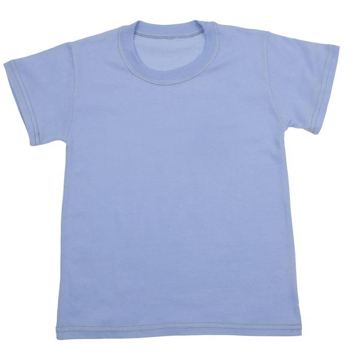 Футболка для мальчика, рост 134 см, цвет голубой