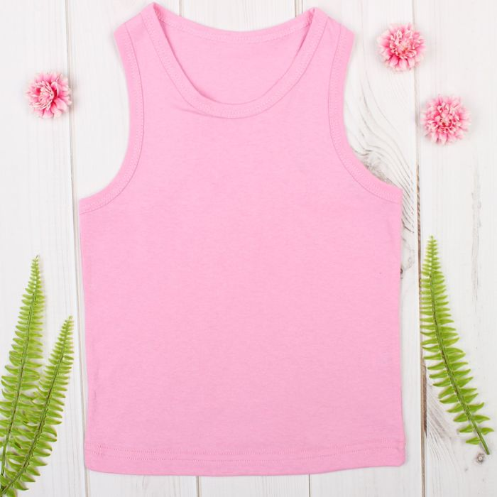 """Майка для девочки """"Оксана"""", рост 98-104 см, цвет розовый 1053"""
