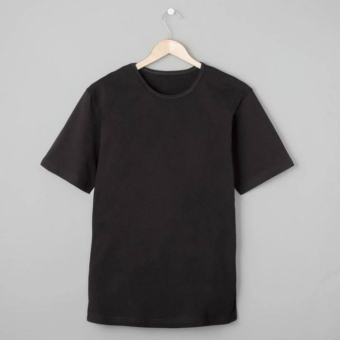 Футболка мужская БК-136 цвет чёрный, р-р 48