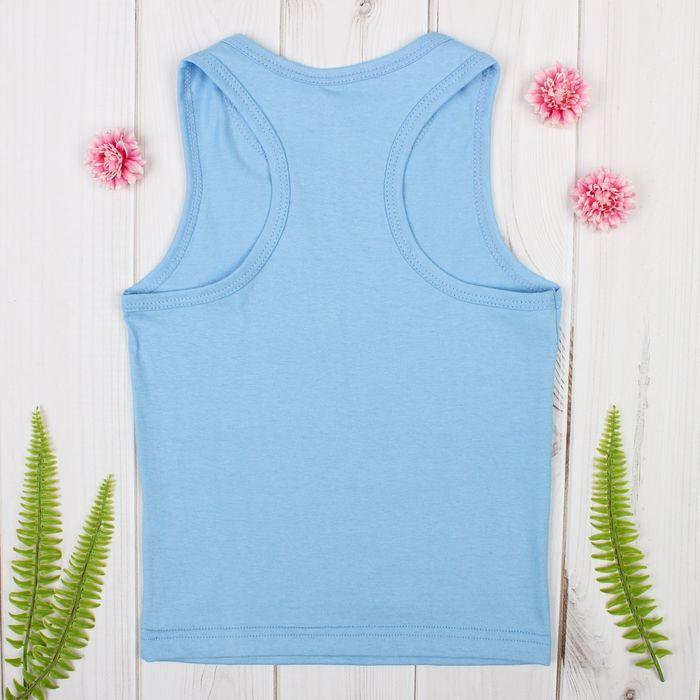 """Майка для девочки """"Оксана"""", рост158-164 см, цвет голубой 1053"""