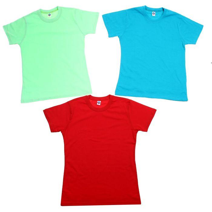 Футболка для девочки, рост 134 см (68), цвет МИКС (арт. 5341/1М_Д)