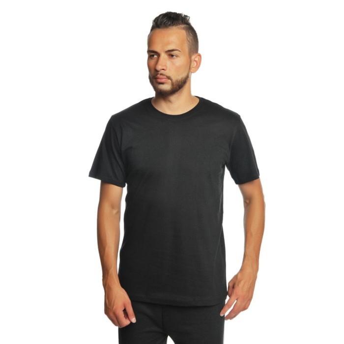 Футболка мужская однотонная цвет черный, р-р 52